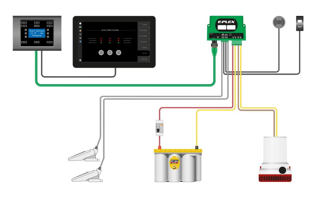 single plex receptacle wiring diagram e plex introducing the new 828bpm     plug   play bilge control  e plex introducing the new 828bpm